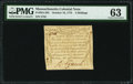 Colonial Notes:Massachusetts, Massachusetts October 16, 1778 4s PMG Choice Uncirculated 63.. ...