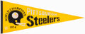 Football Collectibles:Others, 1974 Pittsburgh Steelers Super Bowl IX Pennant....
