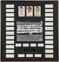 Autographs:Index Cards, 1954 New York Giants - World Series Champs - Cut Signature Display (34)....