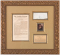 Miscellaneous Collectibles:General, c. 1700s King George III Signed Framed Cut....
