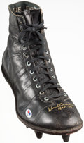 "Autographs:Others, Dick Butkus ""HOF 79"" Signed Cleat...."