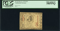 Continental Currency February 17, 1776 $1/2 PCGS Choice About New 58PPQ