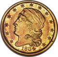 Early Quarter Eagles, 1834 $2 1/2 Capped Bust, BD-1, R.6, AU53 NGC. CAC....