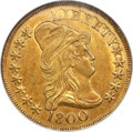 Early Eagles, 1800 $10 BD-1, High R.3, MS61 NGC. CAC....