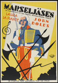 "Captain of the Guard (Universal, 1930). Swedish One Sheet (27.5"" X 39.5""). Drama"