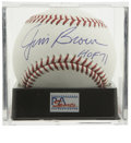 Autographs:Baseballs, Jim Brown Single Signed Baseball PSA Gem Mint 10. Unanimously namedRookie of the Year in 1957 and voted into the Football ...