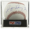 Autographs:Baseballs, Dwight Evans Single Signed Baseball PSA Mint 9. One of the finestdefensive right fielders of his time, winning eight Gold ...