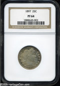 Proof Barber Quarters: , 1897 25C PR 64 NGC. ...