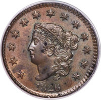 1826 1C N-7, R.1, MS64 Brown PCGS....(PCGS# 36829)