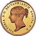 "Great Britain, Great Britain: Victoria gold Proof ""Una and the Lion"" 5 Pounds 1839PR62+ Deep Cameo PCGS,..."