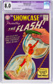 Showcase #14 The Flash (DC, 1958) CGC Apparent VF 8.0 Moderate (A-3) Cream to off-white pages