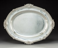 A Paul Storr Silver Tray, London, 1806 Marks: (lion passant), (crowned leopard's head), (duty mark), L, PS<