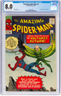 Silver Age (1956-1969):Superhero, The Amazing Spider-Man #7 (Marvel, 1963) CGC VF 8.0 Off-white towhite pages....