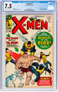 Silver Age (1956-1969):Superhero, X-Men #3 (Marvel, 1964) CGC VF- 7.5 Cream to off-white pages....