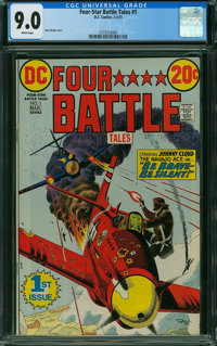 Four-Star Battle Tales #1 (DC, 1973) CGC VF/NM 9.0 WHITE pages