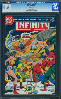 Infinity, Inc. #5 - CVA Exceptional (DC, 1984) CGC NM+ 9.6 White pages