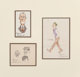 Norman Rockwell (American, 1894-1978) Group of Three Caricatures Ink on paper (one); Ink and crayon on paper (two) 8-...
