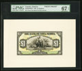 Canadian Currency, Kingston, Jamaica- Bank of Nova Scotia 1 Pound 2.1.1930 Ch. #550-38-04-02FP; BP Front and Back Proofs PMG Superb Gem Unc ...(Total: 2 notes)