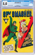 Golden Age (1938-1955):Superhero, Spy Smasher #9 (Fawcett Publications, 1942) CGC VG/FN 5.0 White pages....