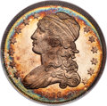 Proof Bust Quarters, 1836 25C Capped Bust PR67 NGC. B-2, High R.7 as a proof....
