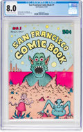 Bronze Age (1970-1979):Alternative/Underground, San Francisco Comic Book #1 (Print Mint, 1970) CGC VF 8.0 Off-white to white pages....