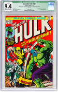 Bronze Age (1970-1979):Superhero, The Incredible Hulk #181 (Marvel, 1974) CGC Qualified NM 9.4Off-white to white pages....