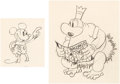 Animation Art:Production Drawing, Trader Mickey Mickey Mouse and Native Chief AnimationDrawings Group of 2 (Walt Disney, 1932).... (Total: 2 Original Art)