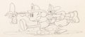 Animation Art:Production Drawing, Mickey's Fire Brigade Mickey Mouse, Donald Duck, and Goofyanimation Drawing (Disney, 1935). ...