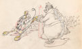 Animation Art:Production Drawing, Mickey's Service Station Peg-Leg Pete Animation Drawing(Walt Disney, 1935). ...