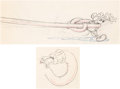 Animation Art:Limited Edition Cel, Mickey's Garden Mickey Mouse and Hose Animation DrawingsGroup of 2 (Walt Disney, 1935). ... (Total: 2 Original Art)