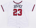 Autographs:Jerseys, David Justice Signed & Inscribed Atlanta Braves Jersey....
