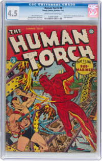 The Human Torch #8 (Timely, 1942) CGC VG+ 4.5 Cream to off-white pages