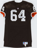 Autographs:Jerseys, 1964 Cleveland Browns Greats Multi-Signed Jersey (5 Signatures)....