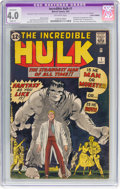 Silver Age (1956-1969):Superhero, The Incredible Hulk #1 (Marvel, 1962) CGC Apparent VG 4.0 Slight(P) Off-white pages....
