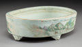 Ceramics & Porcelain, A Chinese Qianjiang Enameled Porcelain Footed Planter, Republic period. Marks: (partially effaced six-character mark). 2-7/8...