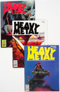 Magazines:Science-Fiction, Heavy Metal Group of 27 (HM Communications, 1977-82) Condition: Average VG/FN.... (Total: 27 Comic Books)