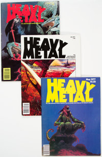 Heavy Metal Group of 27 (HM Communications, 1977-82) Condition: Average VG/FN.... (Total: 27 Comic Books)