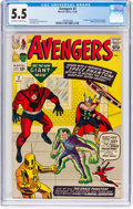 Silver Age (1956-1969):Superhero, The Avengers #2 (Marvel, 1963) CGC FN- 5.5 Off-white to whitepages....