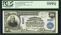 Raleigh, NC - $10 1902 Plain Back Fr. 626 The Commercial NB Ch. # 9067 PCGS Choice About New 55PPQ