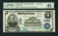 National Bank Notes:North Carolina, Thomasville, NC - $5 1902 Plain Back Fr. 600 The First NB Ch. # 8788 PMG Choice Extremely Fine 45.. ...