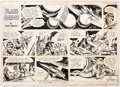 Original Comic Art:Comic Strip Art, Mac Raboy Flash Gordon Sunday Comic Strip Original Art dated 2-9-64 (King Features Syndicate, 1964)....