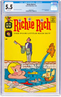 Silver Age (1956-1969):Humor, Richie Rich #1 (Harvey, 1960) CGC FN- 5.5 Off-white pages....