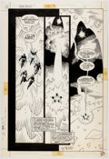 Original Comic Art:Panel Pages, Mike Mignola and Carlos Garzon Cosmic Odyssey #4 Story Page 24 Original Art (DC, 1988)....