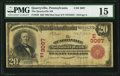 National Bank Notes:Pennsylvania, Quarryville, PA - $20 1902 Red Seal Fr. 639 The Quarryville NB Ch. # (E)3067 PMG Choice Fine 15.. ...