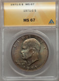 Eisenhower Dollars, 1971-S $1 Silver MS67 ANACS. NGC Census: (127/1). PCGS Population: (610/3). CDN: $245 Whsle. Bid for problem-free NGC/PCGS ...