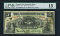 Canadian Currency, Toronto, ON- Dominion Bank $5 2.1.1925 Ch. # 220-16-12 PMG ChoiceFine 15.. ...