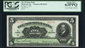 Canadian Currency, Montreal, PQ- Molsons Bank $5 3.7.1922 Ch. # 490-40-02 PCGS ChoiceNew 63PPQ.. ...