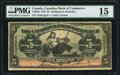 Canadian Currency, Bridgetown, Barbados- The Canadian Bank of Commerce $5 2.1.1922 Ch# 75-20-04 PMG Choice Fine 15.. ...