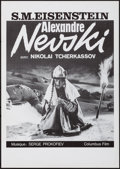 "Movie Posters:Foreign, Alexander Nevsky (Columbus Film, R-1980s). Rolled, Very Fine/Near Mint. Swiss Poster (11.75"" X 16.5""). Foreign.. ..."
