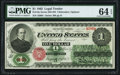 Large Size:Legal Tender Notes, Fr. 16c $1 1862 Legal Tender PMG Choice Uncirculated 64 EPQ.. ...